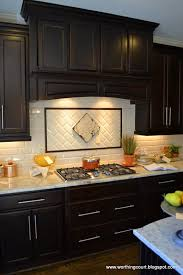 kitchen kitchen backsplash ideas with dark oak cabinets subway