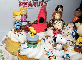 peanuts classic figure set of 13 mini cake toppers cupcake