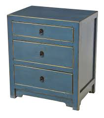 good blue nightstand creating calming atmosphere with a blue