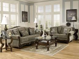 Overstuffed Sofa And Loveseat by Norwich Traditional Wood Trim U0026 Fabric Sofa Couch U0026 Loveseat Set