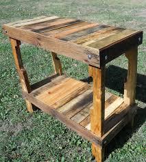 Pallet Wood Patio Furniture - upcycled pallet wood table home furniture matt rivera handmade