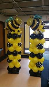 black and yellow paper garland graduation decorations bumble bee