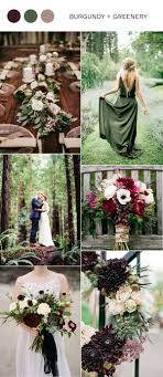 wedding colors trending 5 burgundy wedding color ideas to oh best