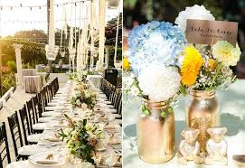 outdoor wedding decoration ideas ideas for outdoor wedding reception tables popsugar home