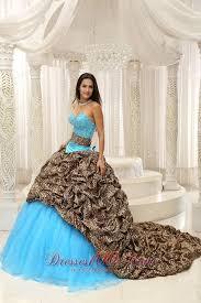 unique zebra print beading blue quinceanera gowns dresses most