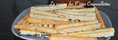comment cuisiner sans gluten gressins sans gluten la cuisine des p tites crapouillettes