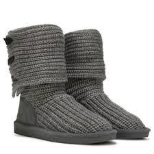 bearpaw womens boots size 11 bearpaw knit fold boot gray