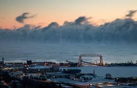 lake superior sea smoke photos video frigid temps bring gorgeous sea smoke to duluth