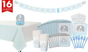 blue elephant baby shower decorations blue baby elephant baby shower party supplies party city