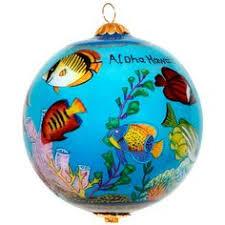 hawaiian vacation ornament ornaments