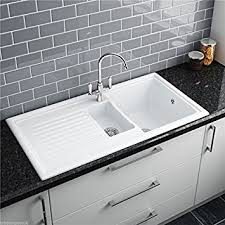 Reginox RLCW  Bowl White Ceramic Reversible Inset Kitchen - Kitchen sink waste kit