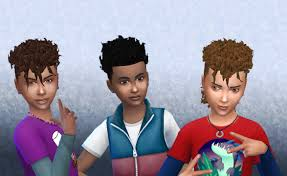 childs hairstyles sims 4 brillit boy curls conversion my stuff