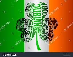 Flag Of Dublin Ireland Flag Ireland Shamrock Art Names Biggest Stock Vector 740763697