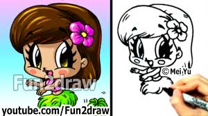 Cute Halloween Pictures To Draw How To Draw Cartoon People Chibi Hula Cute Art Fun2draw