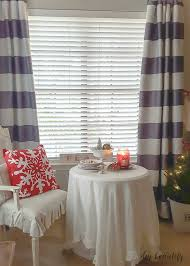 Christmas Kitchen Curtains by Christmas In The Kitchen And New Curtains Diy Beautify