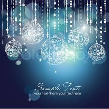 blue christmas blue christmas background with christmas ornaments stock vector