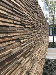 wooden wall cladding panel exterior in reclaimed material