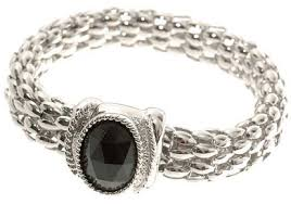 silver bracelet with black stones images Silver color and black stone studded fashion bracelet kerala jpg