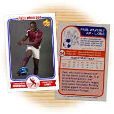 soccer report card template custom soccer cards retro 75 series cards