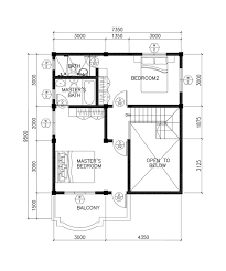 All In The Family House Floor Plan Small Modern Two Story House Plan And Layout With Three Bedrooms