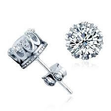 stud earings cubic zirconia stud earrings for men in silver surewaydm