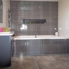 Dark Grey Bathroom Bathroom Tiling Dark Grey White Glazed Tilesjmr Tiles Ltd