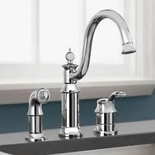 moen ca87528 banbury chrome one handle low arc kitchen moen kitchen chrome home faucets ebay
