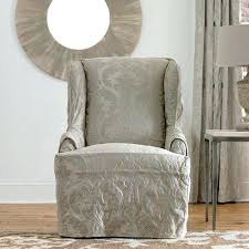 wingback chair slipcovers slipcovers for wingback chair slipcovers wing chair white