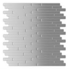 Home Depot Wall Tile Adhesive by Inoxia Speedtiles Linox 11 88 In X 12 In Self Adhesive