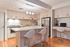designer kitchen with integrated pc nook house designs