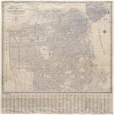 Map Of San Francisco by Detailed Rand Mcnally Map Of San Francisco 1940 U2014 Neatline