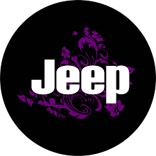 jeep purple jeep purple flowers spare tire cover jeep wrangler any color