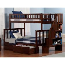 Staircase Bunk Beds Weston Staircase Bunk Bed Finish Merlot