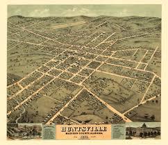 Historic Map Works Vintage Poster Historic Map Of Huntsville Alabama 1871 Madison