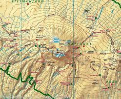 Map Of Tanzania Map Of Kilimanjaro U0026 Arusha Tanzania Freytag U0026 Berndt