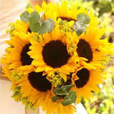 Sunflower Wedding Bouquet Vibrant Sunflower Bridal Bouquet Global Rose