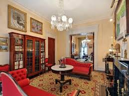 Victorian House Interiors by Elegant Victorian Decor With Red Sofa Idea Victorian House