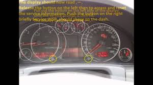 how to reset service light indicator audi a4 1994 2001 youtube