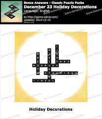 Holiday Decorations 2014 Bonza December 23 Holiday Decorations Game Solver