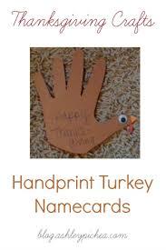 handprint turkeys thanksgiving place cards