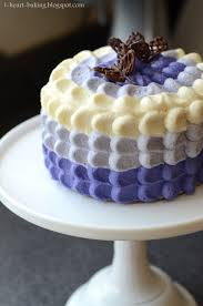 i heart baking purple ombre petal cake with chocolate