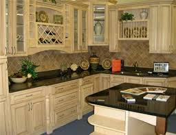 Antique Painted Kitchen Cabinets Kitchen Design White Stone Wall Exposed Good Color For Kitchen