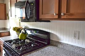 Pictures Of Backsplashes In Kitchens Beadboard Backsplash Liz Marie Blog