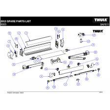 lh rh conn lead rail for thule omnistor 5003 awning 1500601601