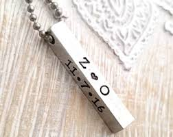 mens personalized necklace boyfriend necklace etsy
