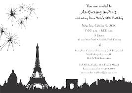 paris themed 50th birthday invitation on behance