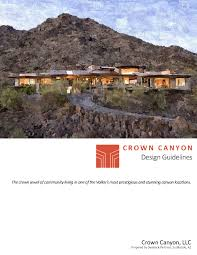 home zone design guidelines crown canyon design guidelines