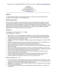 marketing resume objectives examples best resume objective