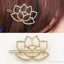 gold hair accessories new lotus flower hair accessories gold silver plated flower hair