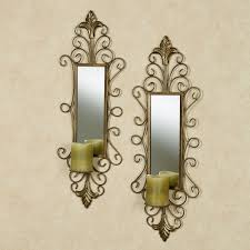 Metal Sconces Remarkable Design Mirrored Wall Sconce Candle Holder Pretty